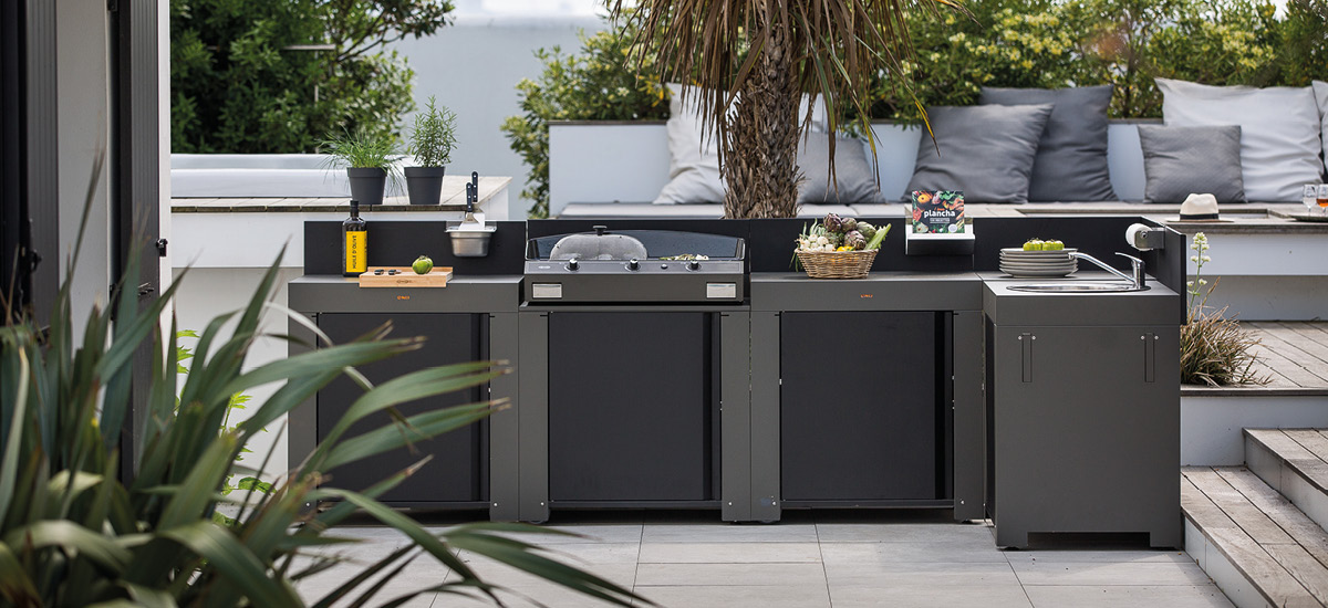 Outdoor kitchen plancha Eno
