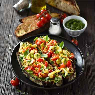 Bruschettas-tomates-oignons-plancha-eno