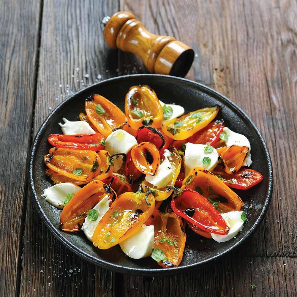 Salade-de-poivrons-et-mozzarella-plancha-eno
